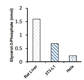 Measurement of G3P in various samples