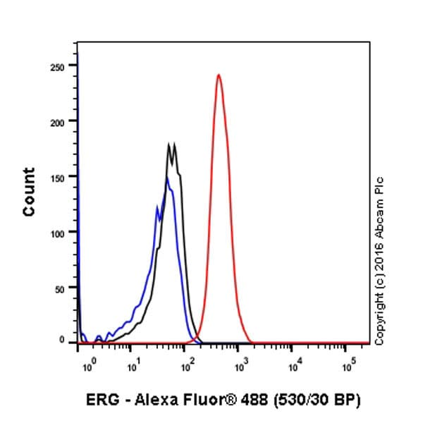 Flow Cytometry - Anti-ERG antibody [EPR3864(2)] - BSA and Azide free (ab174739)