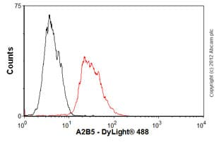 Flow Cytometry - Anti-A2B5 antibody [105] - BSA and Azide free (ab175579)