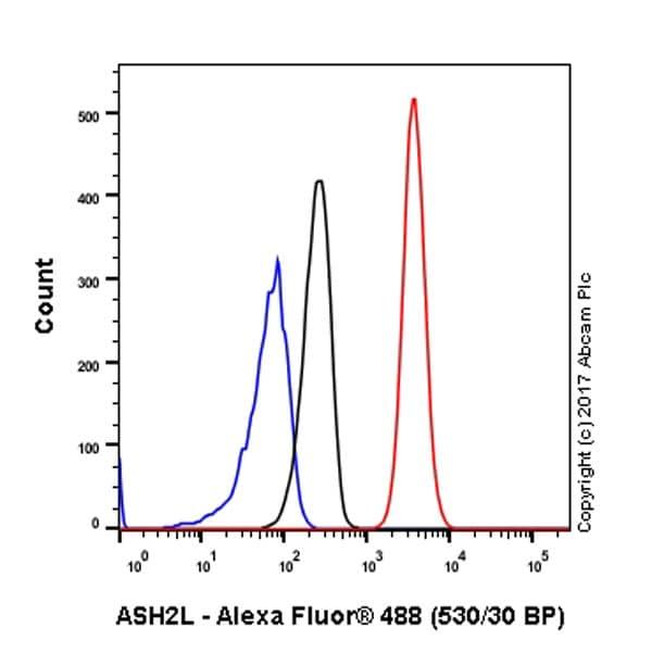 Flow Cytometry - Anti-ASH2L antibody [EPR13107(B)] - Nuclear Marker (ab176334)