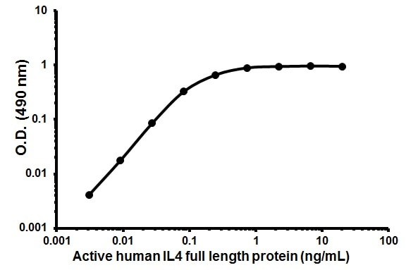 Cellular activation - Recombinant human IL-4 protein (Animal Free) (ab179620)