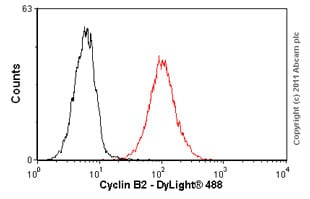 Flow Cytometry - Anti-Cyclin B2/CCNB2 antibody [X29.2] (ab18250)