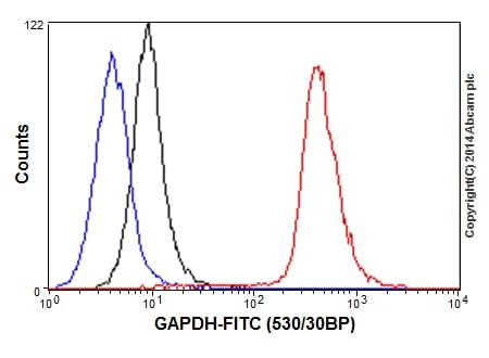 Flow Cytometry - Anti-GAPDH antibody [EPR16884] - Loading Control (ab181603)