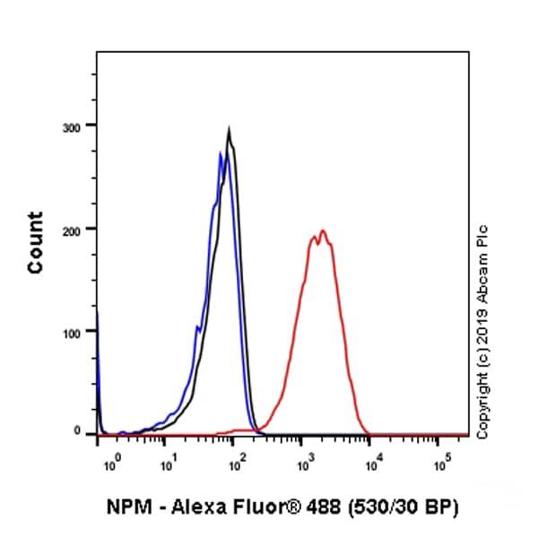 Flow Cytometry - Anti-Nucleophosmin antibody [SP236] (ab183340)