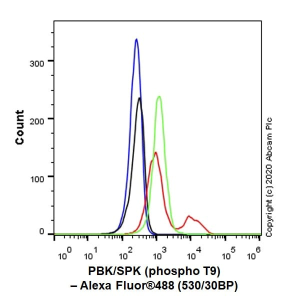Flow Cytometry - Anti-PBK/SPK (phospho T9) antibody [EPR2475(N)] (ab184953)
