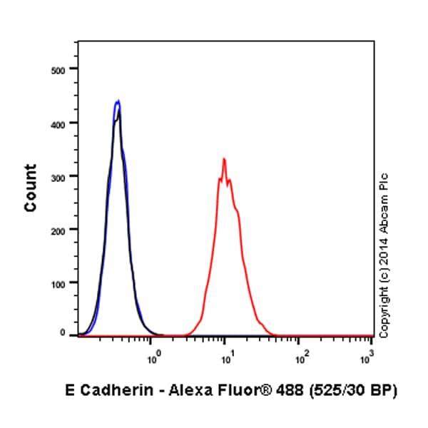 Flow Cytometry - Anti-E Cadherin antibody [EP700Y] - Intercellular Junction Marker (Alexa Fluor® 488) (ab185013)