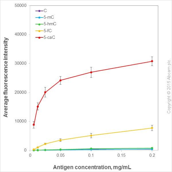 Nucleotide Array - Anti-5-carboxylcytosine (5-caC) antibody [RM24 1-A3] (ab185492)