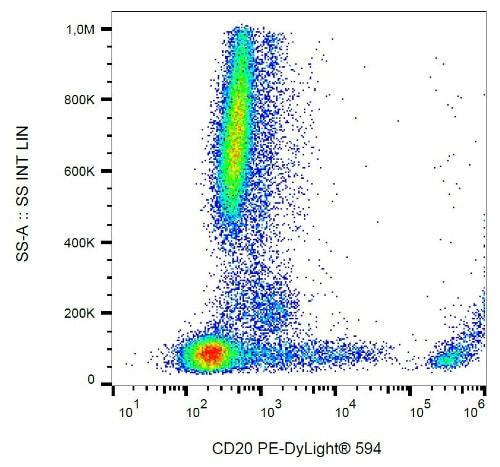 Flow Cytometry - Anti-CD20 antibody [2H7] (PE-DyLight™ 594) (ab187593)