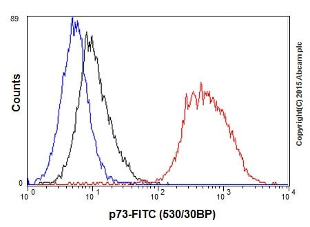 Flow Cytometry - Anti-p73 antibody [EPR18409(T)(MIX)] (ab189896)