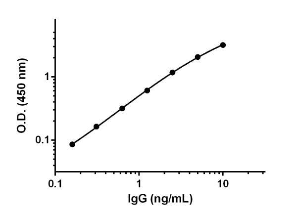 Example of Guinea Pig IgG standard curve