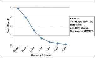 Sandwich ELISA - Anti-Human IgA antibody [RM128] (ab193189)
