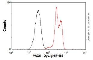 Flow Cytometry - Anti-PAX5 antibody [EPR3730(2)] - BSA and Azide free (ab193556)
