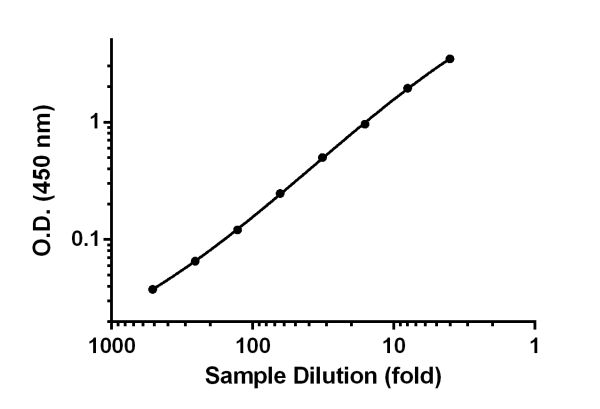 Titration of 48 hours PHA-stimulated PBMC cell culture supernatant samples within the working range of the assay.