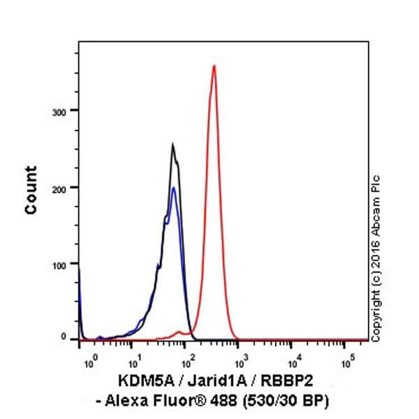 Flow Cytometry - Anti-KDM5A / Jarid1A / RBBP2 antibody [EPR18651] (ab194286)
