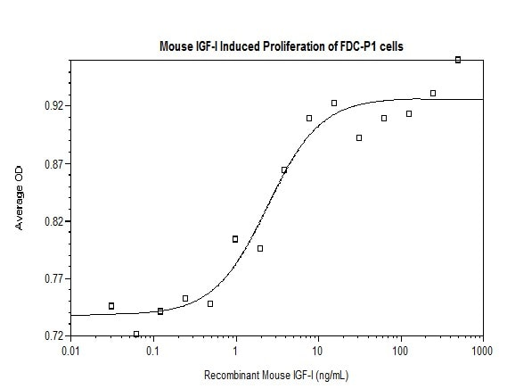 Functional Studies - Recombinant mouse IGF1 protein (ab198569)