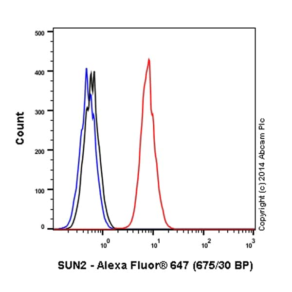 Flow Cytometry - Anti-SUN2 antibody [EPR6557] (Alexa Fluor® 647) (ab198985)