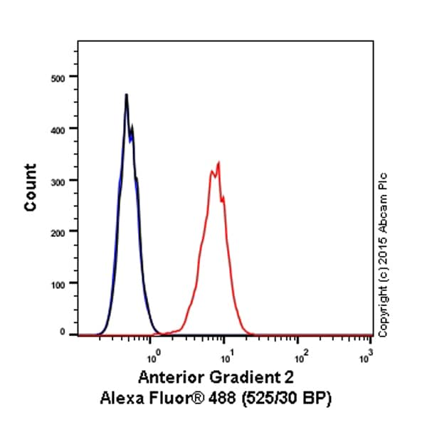 Flow Cytometry - Anti-Anterior Gradient 2 antibody [EPR3278] (Alexa Fluor® 488) (ab199044)