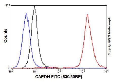 Flow Cytometry - Anti-GAPDH antibody [EPR16891] - BSA and Azide free (ab199553)