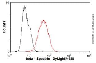Flow Cytometry - Anti-beta 1 Spectrin antibody [4C3] (ab2808)