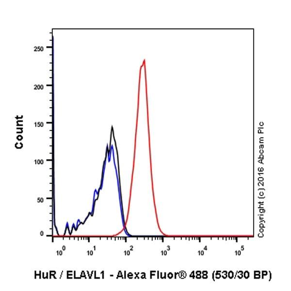 Flow Cytometry - Anti-HuR / ELAVL1 antibody [EPR17397] (ab200342)