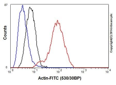 Flow Cytometry - Anti-Actin antibody [EPR16875] (ab200658)