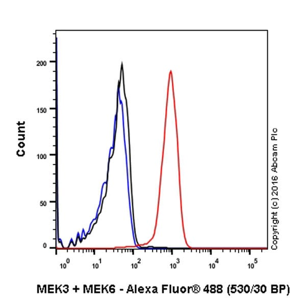 Flow Cytometry - Anti-MEK3 + MEK6 antibody [EPR17340] (ab200831)