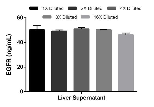 Interpolated concentrations of EGFR in liver cell culture supernatant samples.