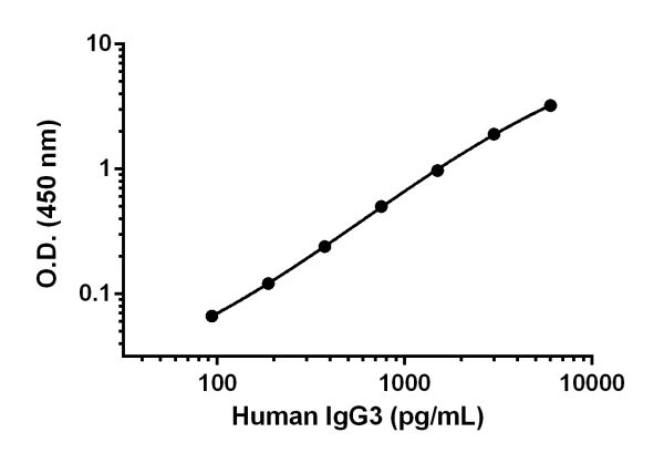 Example of IgG3 standard curve.