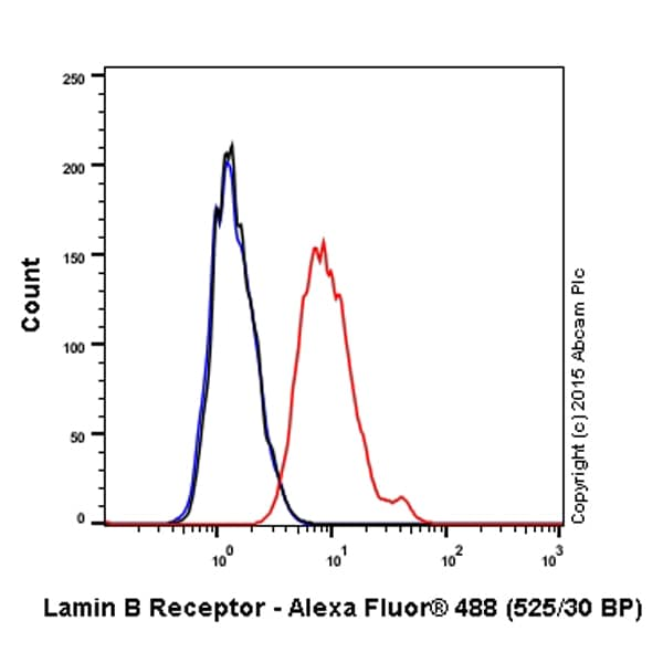 Flow Cytometry - Alexa Fluor® 488 Anti-Lamin B Receptor/LBR antibody [E398L] (ab201532)