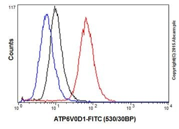 Flow Cytometry - Anti-ATP6V0D1/P39 antibody [EPR18320] (ab202897)