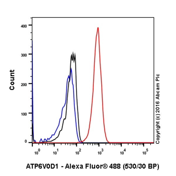 Flow Cytometry - Anti-ATP6V0D1/P39 antibody [EPR18320-38] (ab202899)