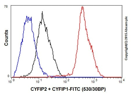 Flow Cytometry - Anti-CYFIP2 + CYFIP1 antibody [EPR17848-87] (ab204129)