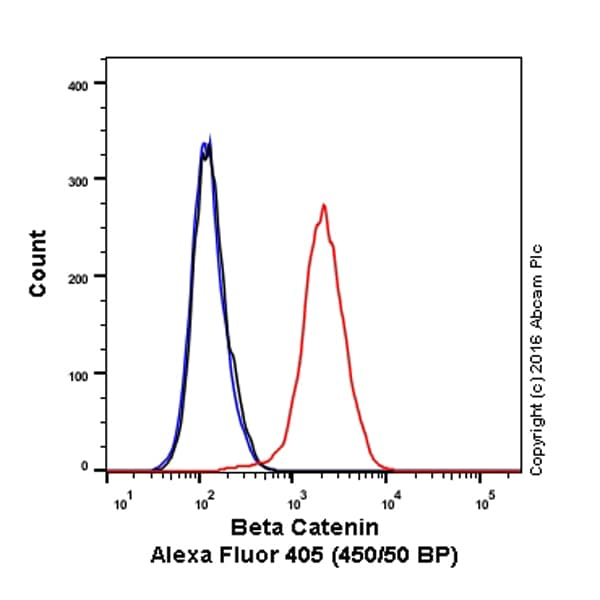 Flow Cytometry - Anti-beta Catenin antibody [E247] (Alexa Fluor® 405) (ab206579)