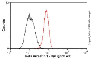 Flow Cytometry - Anti-beta Arrestin 1 antibody [E274] - BSA and Azide free (ab206776)