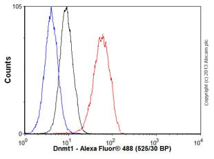 Flow Cytometry - Anti-Dnmt1 antibody [EPR3522] - BSA and Azide free (ab207601)