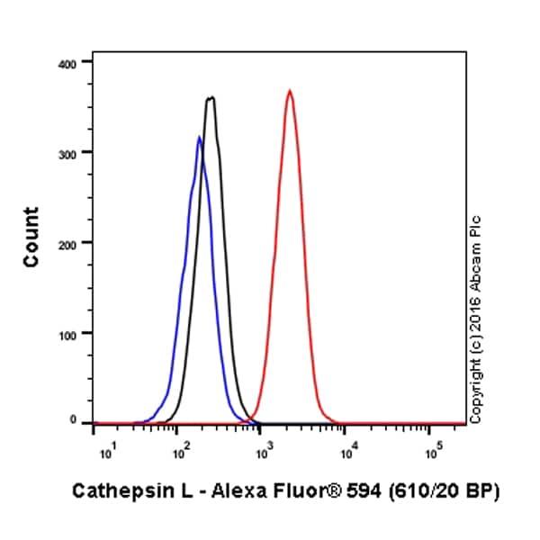 Flow Cytometry - Alexa Fluor® 594 Anti-Cathepsin L/V/K/H antibody [EPR8011] (ab208073)