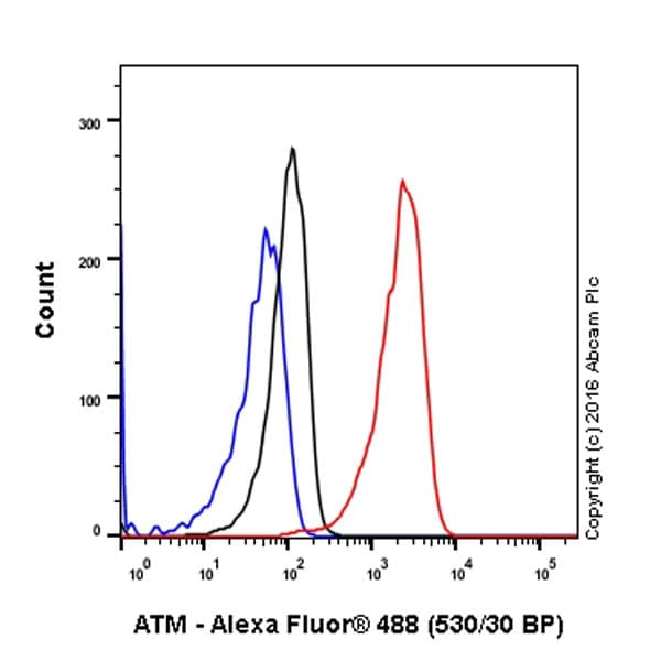 Flow Cytometry - Anti-ATM (phospho S1981) antibody [EP1890Y] - BSA and Azide free (ab208775)