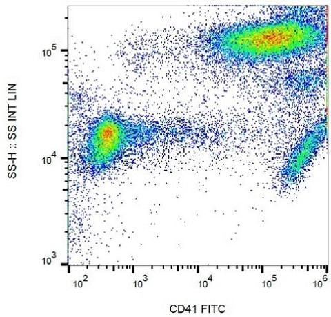 Flow Cytometry - FITC Anti-CD41 antibody [MEM-06] (ab21851)