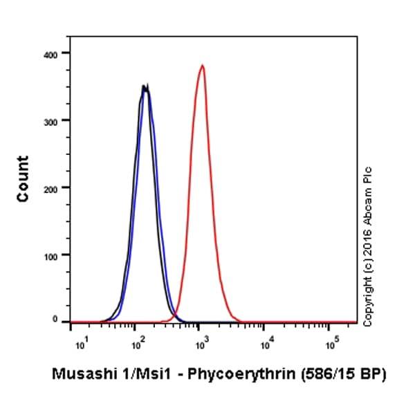 Flow Cytometry - Anti-Musashi 1 / Msi1 antibody [EP1302] (Phycoerythrin) (ab210418)