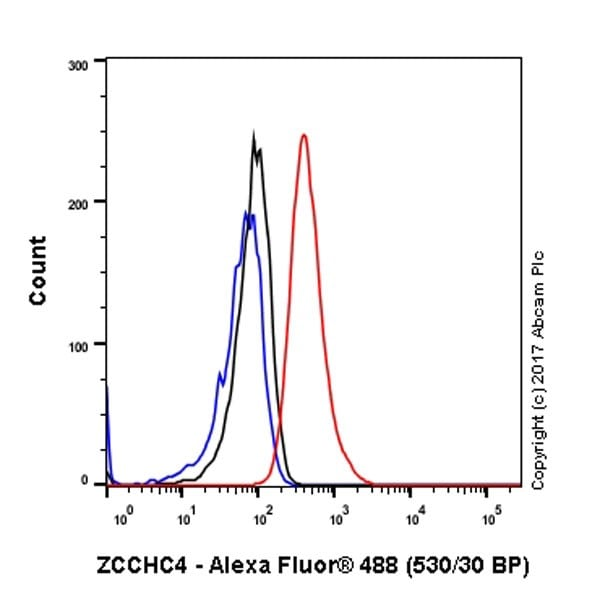 Flow Cytometry - Anti-ZCCHC4 antibody [EPR20492] (ab211325)