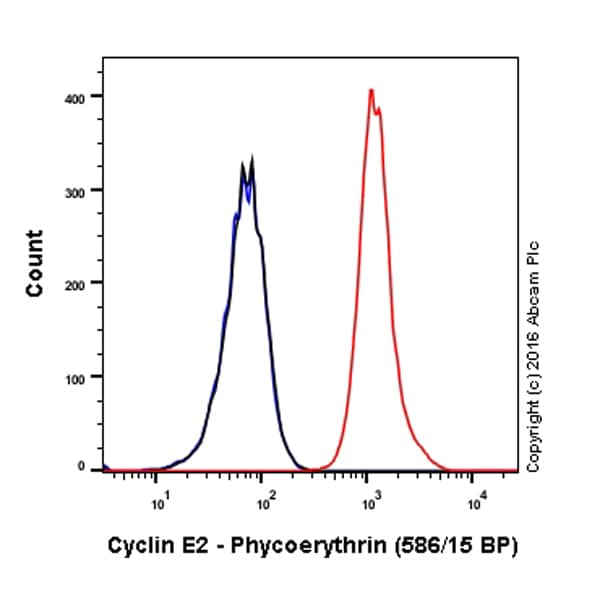 Flow Cytometry - Anti-Cyclin E2 antibody [E142] (Phycoerythrin) (ab211687)