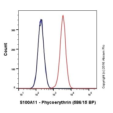 Flow Cytometry - PE Anti-S100A11 antibody [EPR11172] (ab211996)