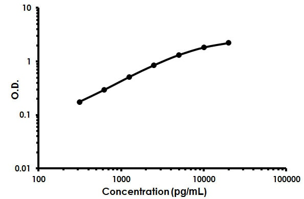 Mouse Surfactant protein D / SP-D ELISA Kit (ab213890) Standard Curve.