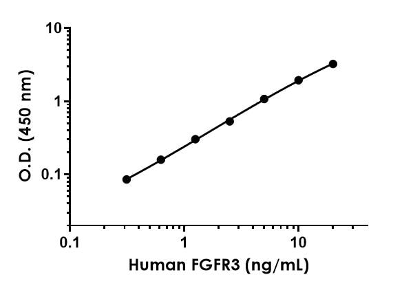 Example of human FGFR3 standard curve.