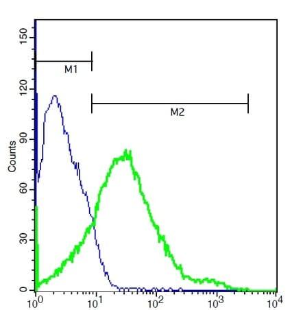 Flow Cytometry - Anti-Coxsackie Adenovirus Receptor/hCAR antibody (ab214354)