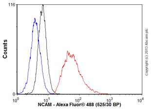 Flow Cytometry - Anti-NCAM1 antibody [EP2567Y] - BSA and Azide free (ab214435)