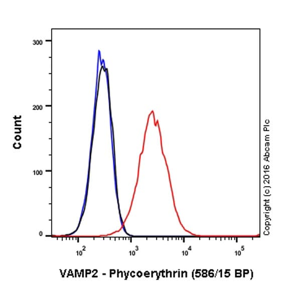 Flow Cytometry - Anti-VAMP2 antibody [EPR12790] - BSA and Azide free (ab214590)