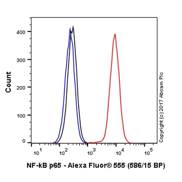 Flow Cytometry - Anti-NF-kB p65 antibody [E379] (Alexa Fluor® 555) (ab214634)