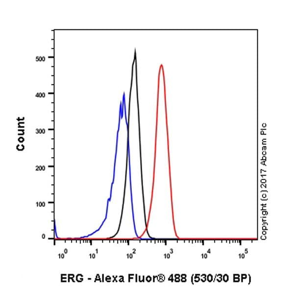 Flow Cytometry - Anti-ERG antibody [EPR3864] - BSA and Azide free (ab214796)
