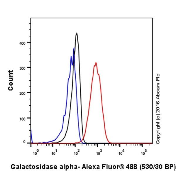 Flow Cytometry - Anti-Galactosidase alpha antibody [EP5828(2)] - BSA and Azide free (ab215258)